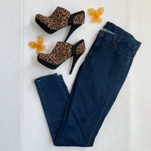 7 For All Mankind Genevieve Dark Skinny Jeans